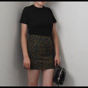 Leopard H&M leopard skirt